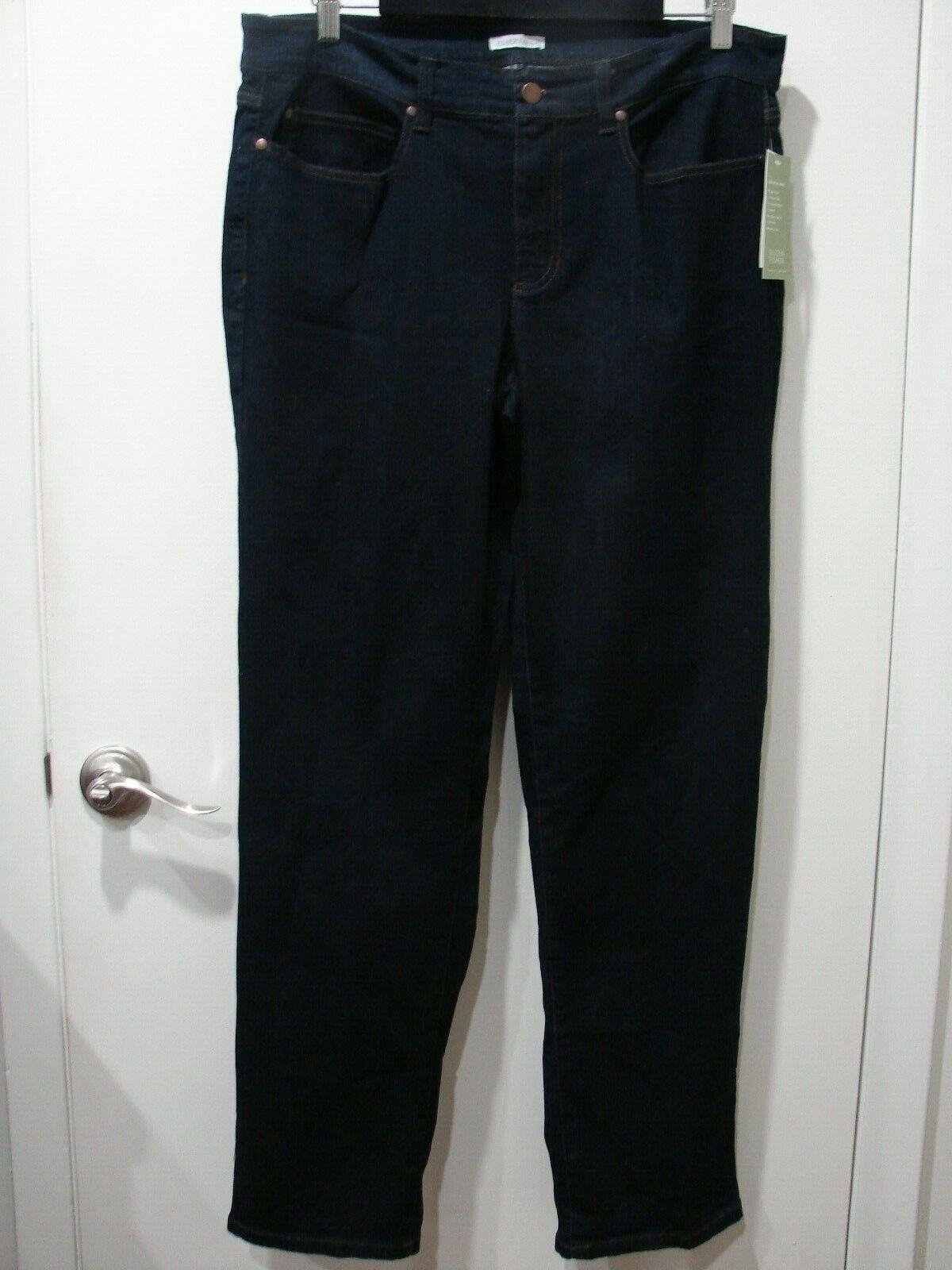 NWT Eileen Fisher Organic Cotton Indigo Straight Jean SZ 14