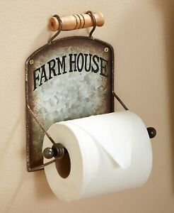 Toilet Paper Holder Farmhouse Chic Country Rustic Bathroom Wall Decor 1 Pc Ebay