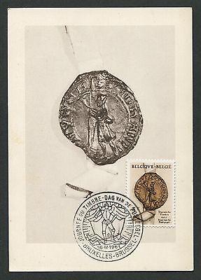 FleißIg Belgien Mk 1961 Journee Timbre Antwerpen Maximumkarte Maximum Card Mc Cm D2687 Belgien