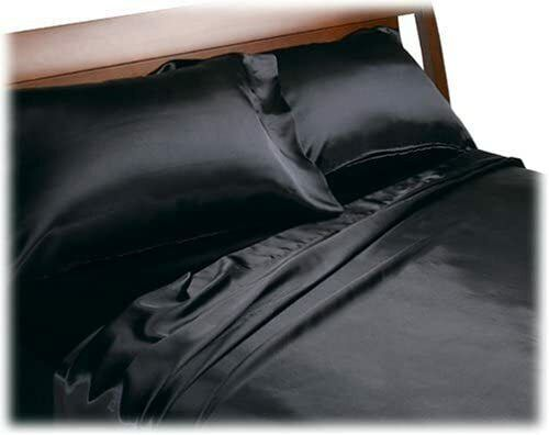 Satin Bedding Set Charmeuse Sheet, Queen Size Satin Bed Sheets