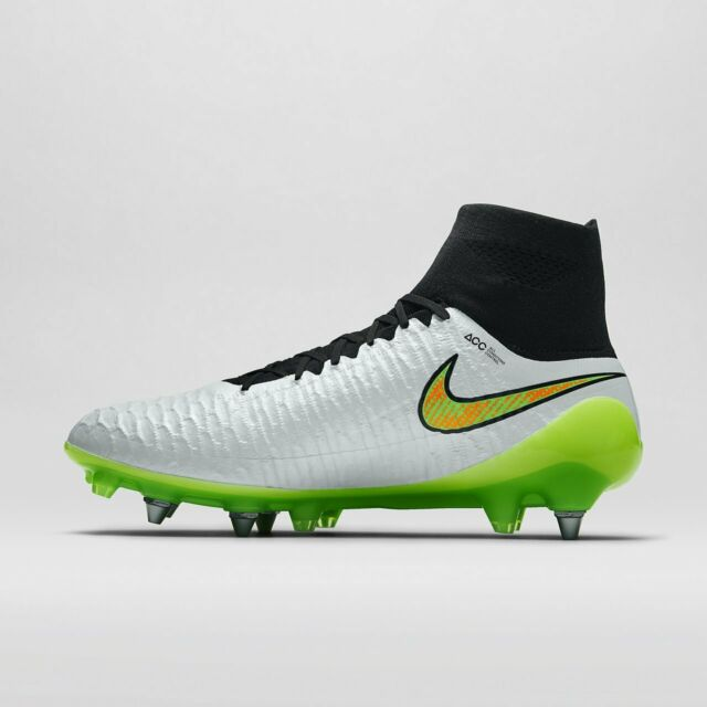 Nike Magista Obra SG-Pro Soccer Cleat Black White Poison Green Size 8  641325 130