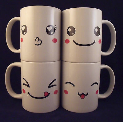 Kawaii Face - Coffee Mug - Cartoon - Anime - Chibi - Cup - Birthday - Gift