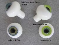 Glass Doll Eyes Triple Color Art Doll, Fairy, Ooak, Mermaid, Sculpture, Tcde