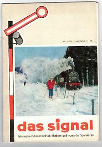 Das-Signal-Informationsdient-fur-Modellbahnen-technische-Spielwaren-Nr-35-1970