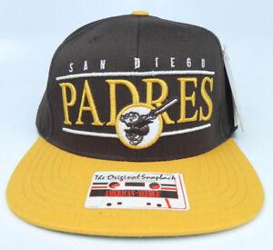 4fd9ecf1ad4 SAN DIEGO PADRES MLB VINTAGE SNAPBACK RETRO 2-TONE CAP HAT NWT ...
