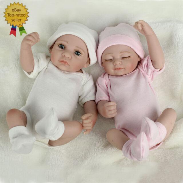 Realistic Reborn Baby Dolls Full Vinyl Silicone Doll Preemie BoyGirl Twins Gift