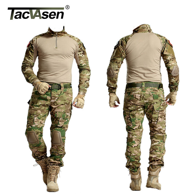 TACVASEN Men Tactical Military Uniform Army Combat Airsoft SAS Forces Fishing