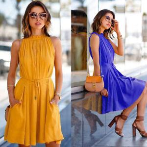NEW-Women-Summer-Casual-Sleeveless-Evening-Party-Cocktail-Beach-Short-Mini-Dress
