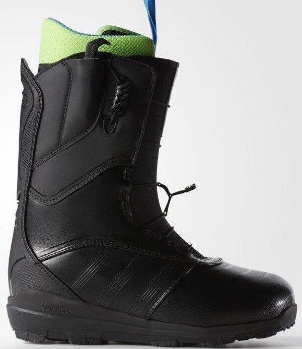Adidas The Blauvelt Herren Snowboard Snowboard Snowboard Stiefel Größe UK 9 Us Kern Schwarz Neu 0875d0