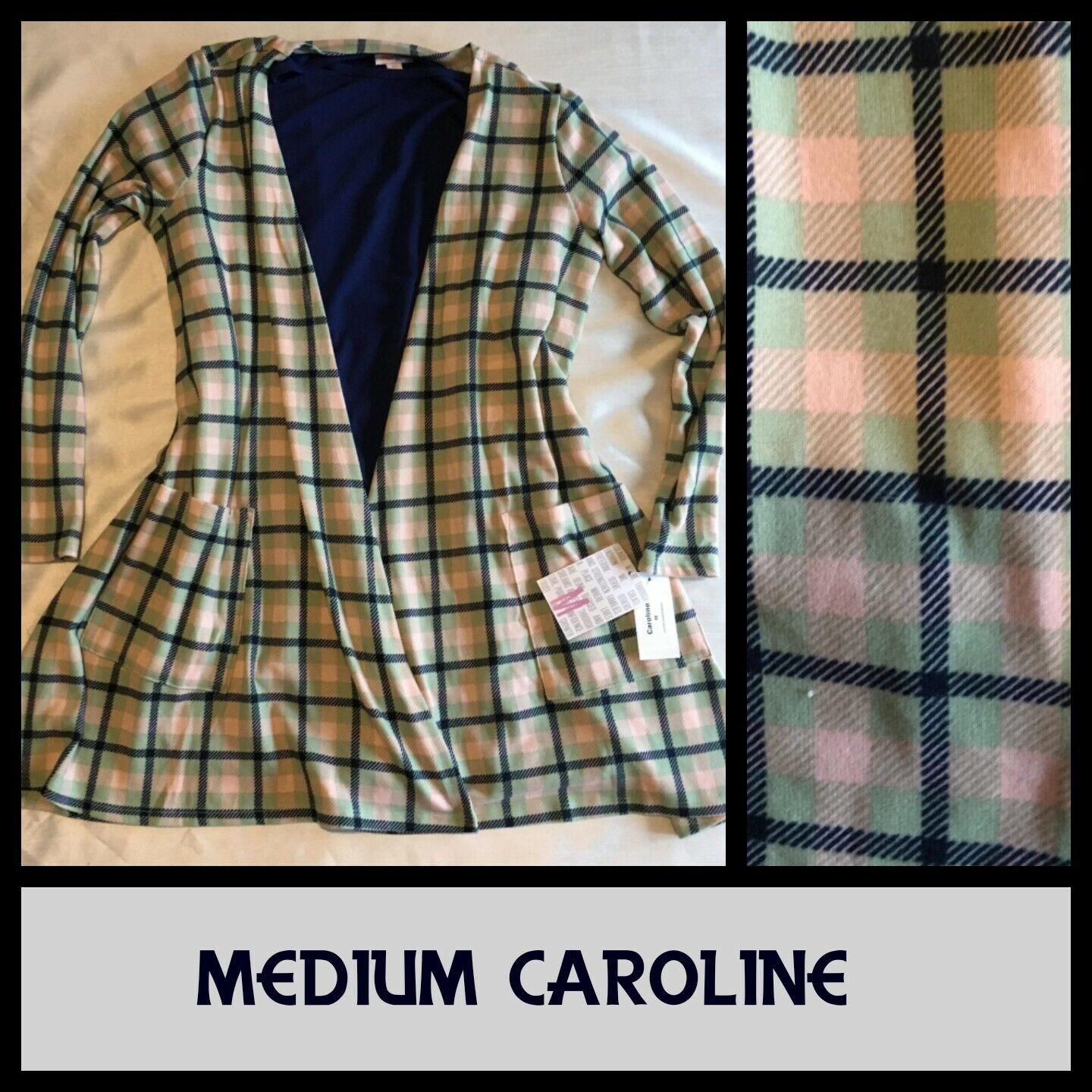 BNWT Lularoe M Medium Caroline. Very Soft and Sweet Cashmere Like Cardigan.