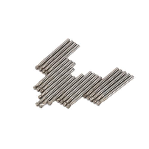 3mm 1//8/'/' Shank Burrs Drill Bits Drill Tungsten Steel Solid Carbide Tools 20Pcs