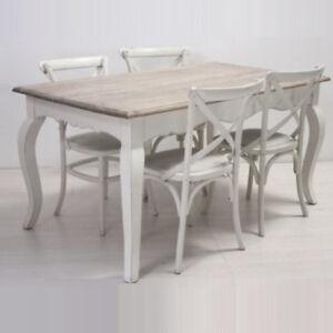 Tavolo Bianco Stile Provenzale.Tavolo Pranzo Shabby Chic Bianco Provenzale 160x90 Tavoli