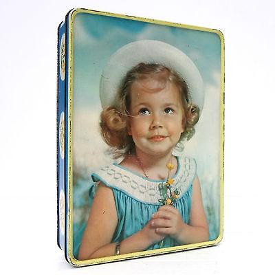Vintage Retro 1950s 1960s Meredith & Drew Biscuits Tin Girl
