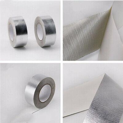 """Aluminum foil tape 2/"""" 50m Reinforced fiberglass heat shield Fire Waterproof US"""
