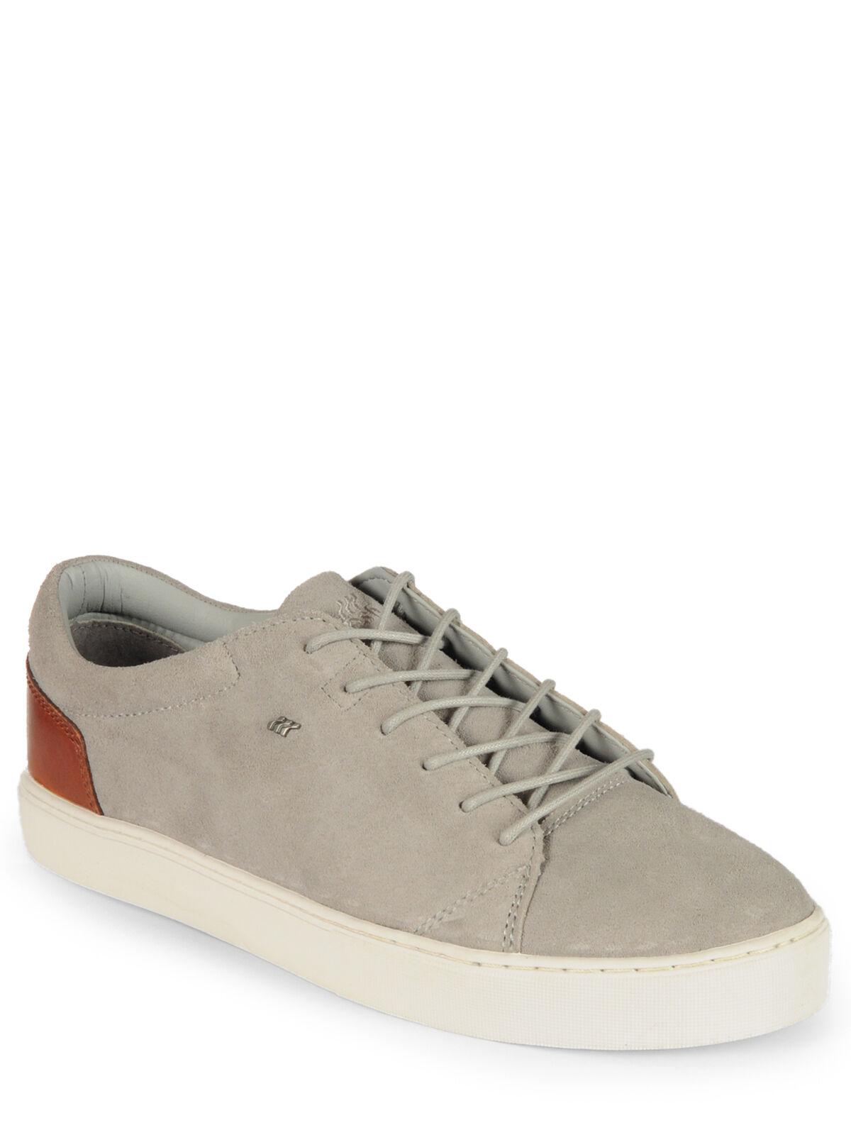 Boxfresh Para Hombre Snkr Lea Gamuza   aprobado Zapatos gris   Picante
