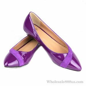 Dark Purple Flat Shoes