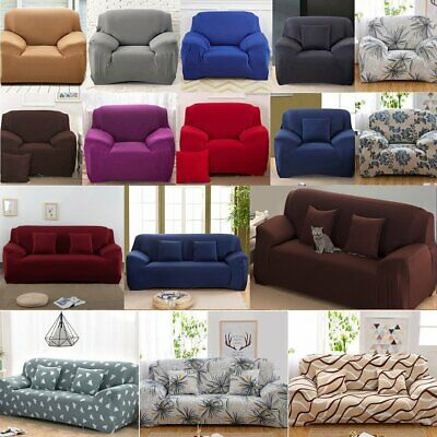 Sofa 1//2//3//4 Seater Stretch Couch Covers Protector Slip Cover Recliner Lounge