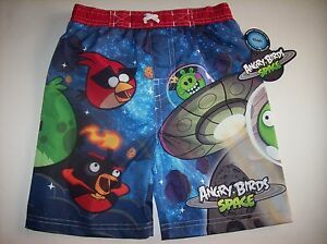 Angry-Birds-Space-Swimsuit-Swimwear-Trunks-Bathing-Boys-2T-3T-4Toddlr-UPF-50-NWT