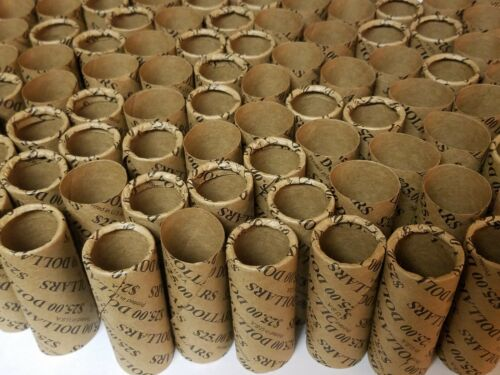 Pre-Crimped 1 End Shotgun Rolls $25 Dollars 300 Dollar Size Paper Coin Wrappers