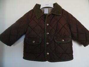 fa84c3431 Gymboree~Quilted Toddler Boys Jacket Coat~Brown~12-18 month