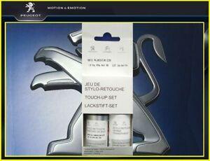 Lackstift-Farbstift-Chronos-Silber-2x-9-ml-EZR-M0ZR-PEUGEOT-OE-1649606180