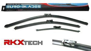 RKX Front Rear Windshield Wiper Blades set of 3 for VW Touareg Porsche Cayenne