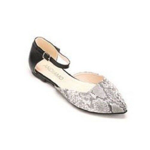 NEW Pointed Andiamo Payton Ankle Strap Shoe Snake Skin Sandal Pointed NEW Toe Size 9 M 67bb4c
