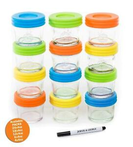 Glass-Baby-Food-Storage-Containers-Set-contains-12-Small-Reusable-4oz-Jars