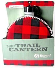 Reward Lodge 2 Liter Trail Canteen Water Flask Travel Hiking NWB 40.00 Red