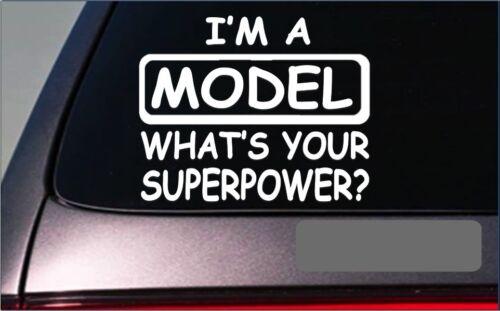 """Model Superpower Sticker *G425* 8/"""" Vinyl Decal runway fashion fashionista"""