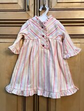 """American Girl Doll Retired 18/"""" Kit Striped Nightie Pajamas Slippers Shoes ONLY"""