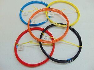 20-AWG-Silver-PTFE-teflon-R-Wire-Assortment-50-feet-19-strand-SPC-solid-color