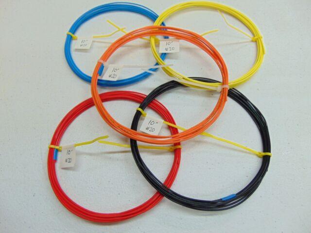 20 AWG Silver PTFE teflon(R) Wire Assortment 50 feet 19 strand SPC solid color