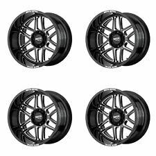 4x Moto Metal 20x10 Mo992 Folsom Wheels Gloss Black Milled 8x170 18mm 479 Fits Nissan Armada