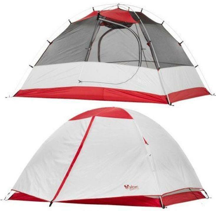 New Stoic Templum 3.1 Tent + Footprint Backpacking Light Weight Red