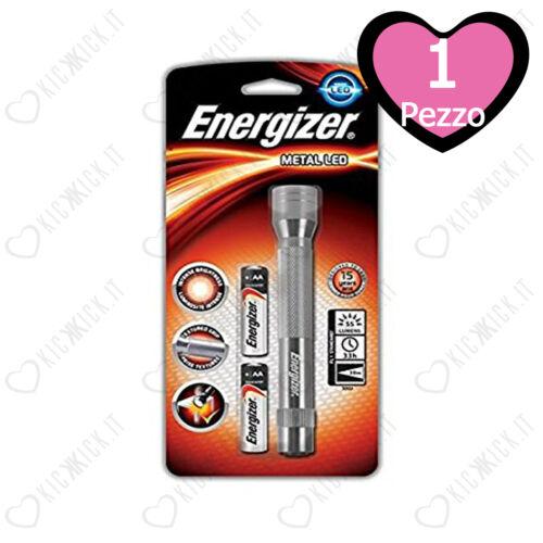 Torcia a Led Piccola Portatile in Metallo Energizer Metal Led 2xAA
