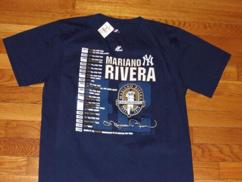 NWT MAJESTIC NEW YORK YANKEES MARIANO RIVERA SHORT SLEEVE T-SHIRT BOYS X-LARGE