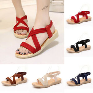 007a320b2bf2 Image is loading Womens-Rome-Gladiator-Sandals-Travel-Bohemia-Strappy-Thong-