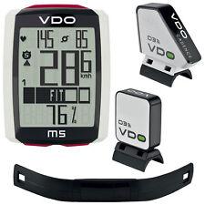 VDO Fahrradcomputer Pulsmesser M5 inkl. Trittfrequenzsender + Brustgurt