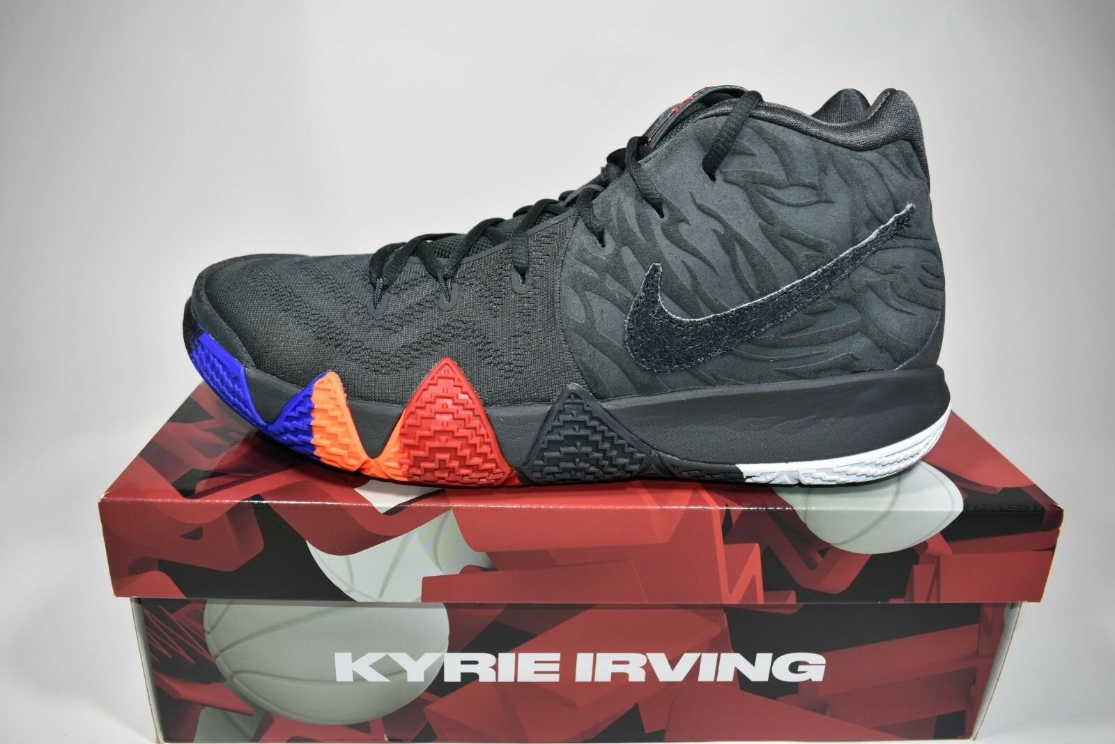 Mens Sz 12 Nike Kyrie 4 Irving Year of The Monkey Anthracite 943806 ... f21ee9391