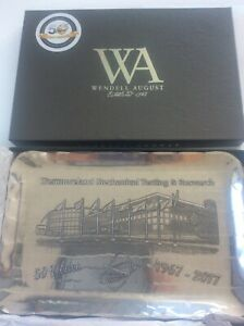 Westmoreland Mechanical Testing US 50 year Anniversary Metal Tray Wendell August