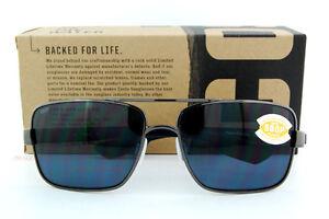 03a000175b917 New Costa Del Mar Sunglasses NORTH TURN Gunmetal Grey Lenses 580P ...