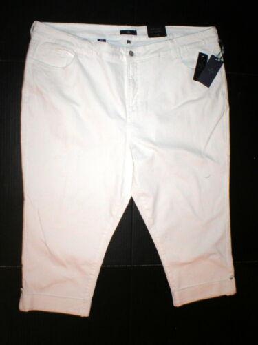 Plus Capri Carme døtre Nwt dine Jeans Crop Women's 24w W Ikke 24 White Rxqpx75wP