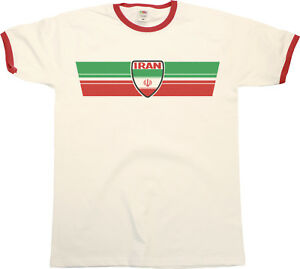 4ed0990ba Mens IRAN Football T-Shirt WORLD CUP 2018 Russia Retro Strip Kit ...