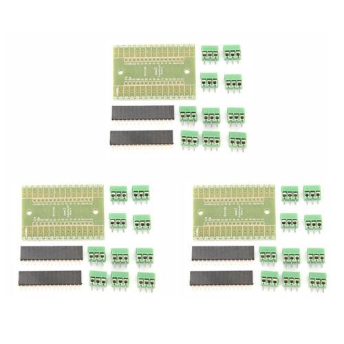 3 Sets Expansion Board DIY Kit Terminal Adapter IO Shield V1.0 for Arduino