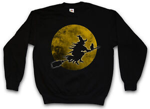 Sweatshirt Nuit Blocksberg Lune Walpurgis De Chat Halloween Balai De Sorcière eD92YHbWEI