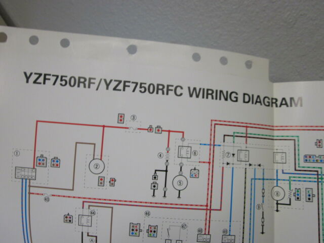 Yamaha Color Wiring Diagram Schematic 1994 Yzf750rf