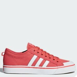 size 40 73d53 9a034 Image is loading Adidas-Originals-Nizza-Shoes-Athletic-Sneaker-RED-WHITE-