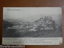 Vecchia foto epoca VEDUTA DI SICIGNANO DEGLI ALBURNI GAZZETTA 1922 Associazione