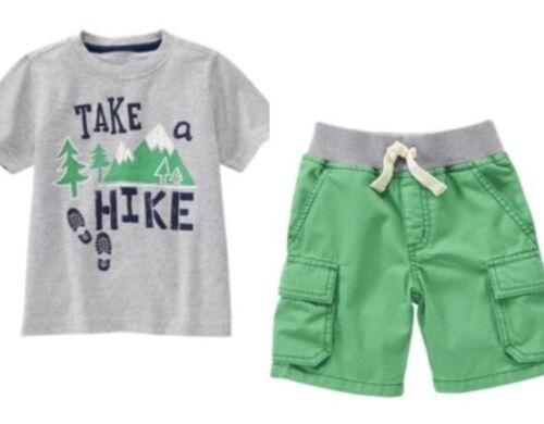 Gymboree Backyard Explorer 2T 3T 4T 5T Shorts Shirt Set Camping Outdoors Green